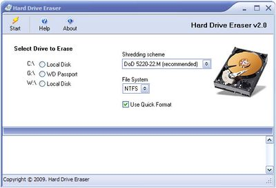 Free Hard Drive Eraser software.